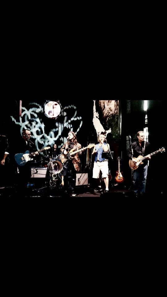 Live band playing