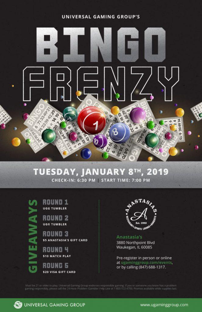 Bingo Frenzy flyer January 8th