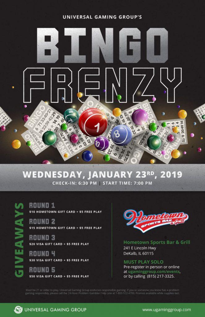 Bingo Frenzy flyer January 23rd