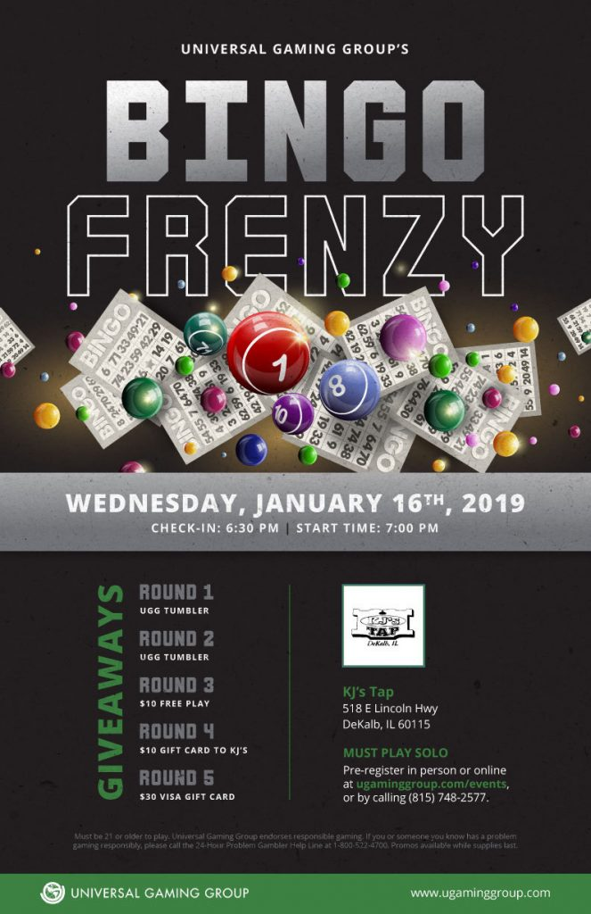 Bingo Frenzy flyer January 16th
