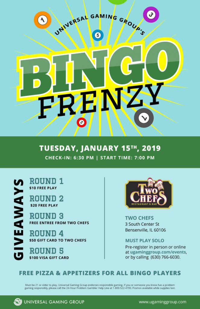 Bingo Frenzy flyer January 15th