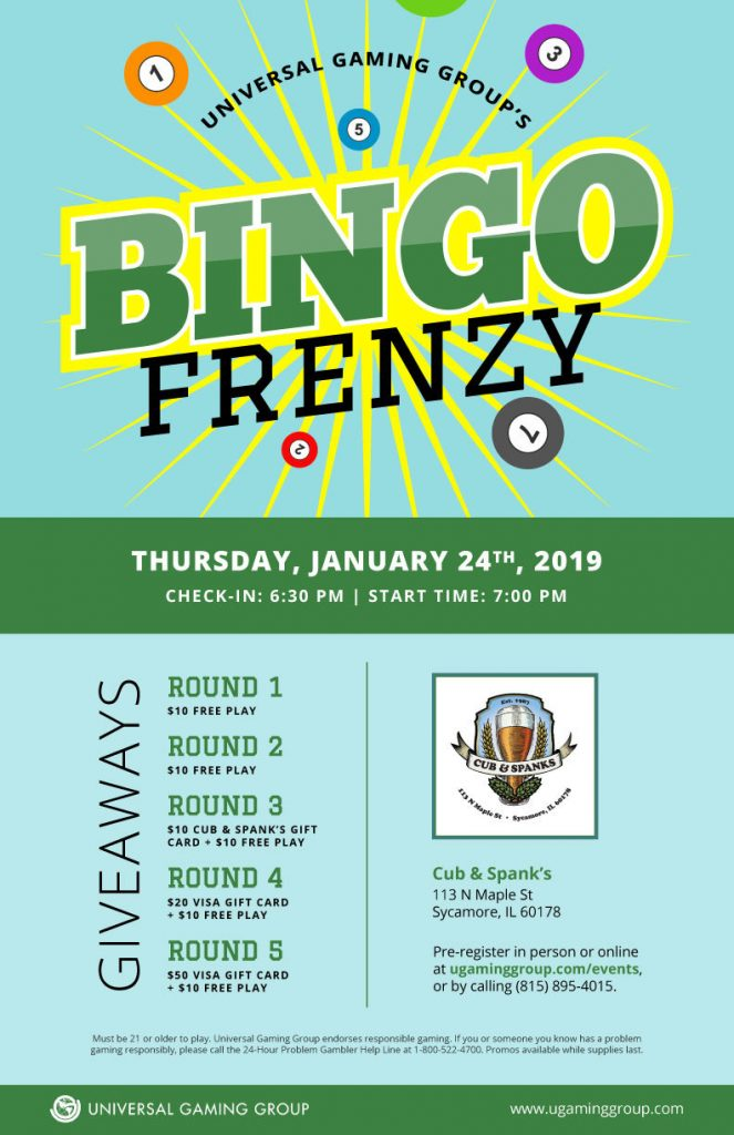Bingo Frenzy flyer