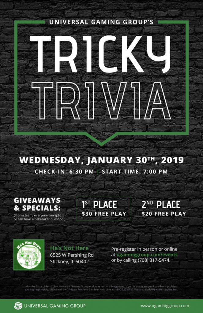 Tricky Trivia flyer